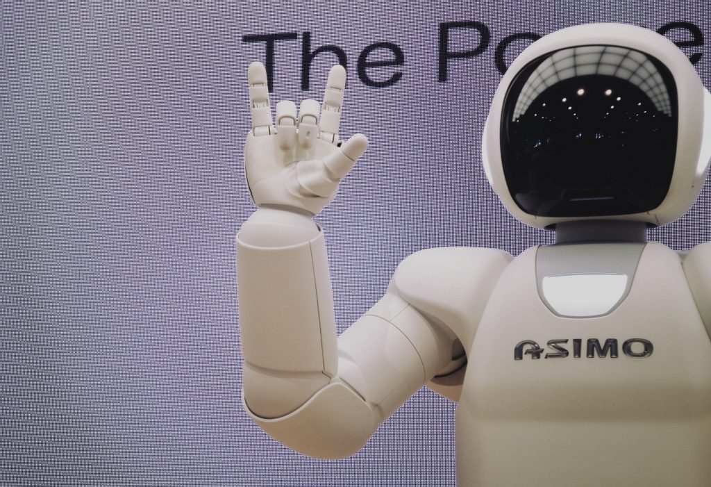 Asimo Robot making handsign