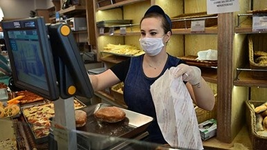 Youth working in a bakery